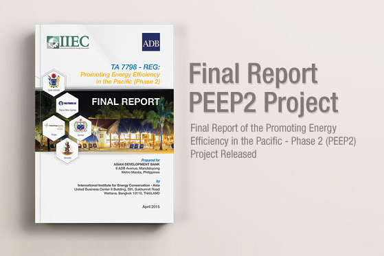Final Report of the Promoting Energy Efficiency in the Pacific - Phase 2 Project Released