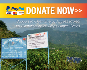 Donate for Clean Energy Access Program for Electrification of Village Health Clinics